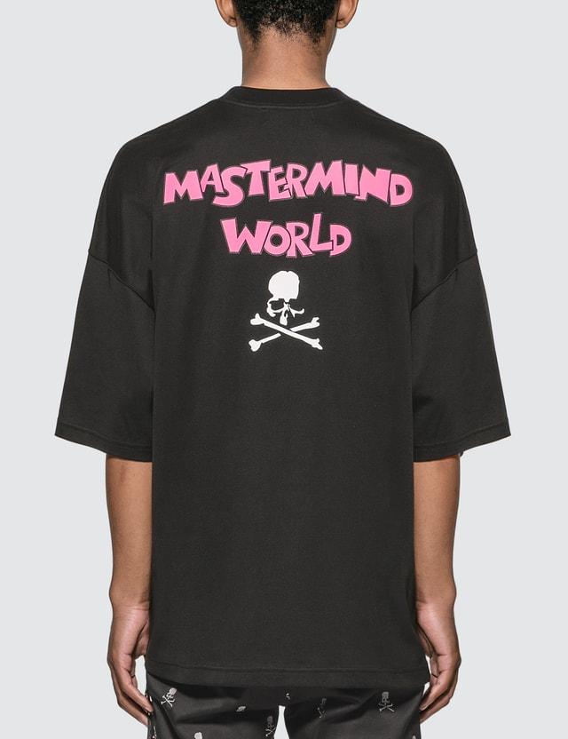 Mastermind World Logo-Flocked Cotton Jersey Oversized T-shirt