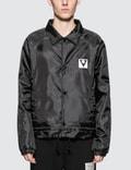 Maison Margiela Black Logo Nylon Coach Jacket Picutre