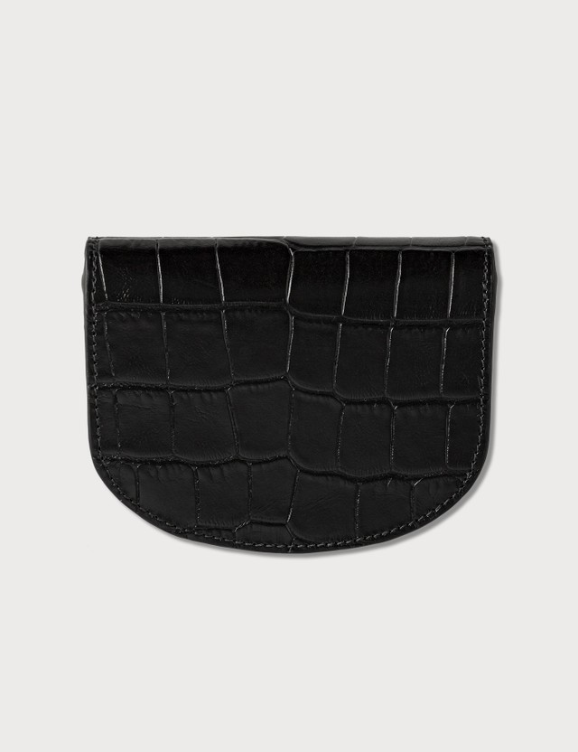 A.P.C. Croco Embossed Leather Small Wallet