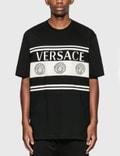 Versace Stripe Medusa Logo T-Shirt 사진