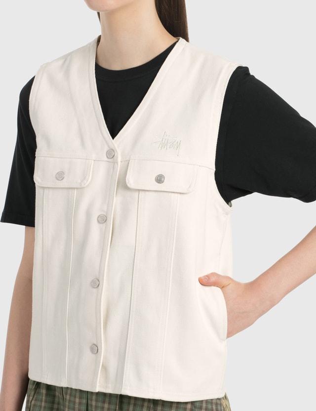 Stussy Canvas Work Vest Natural Women