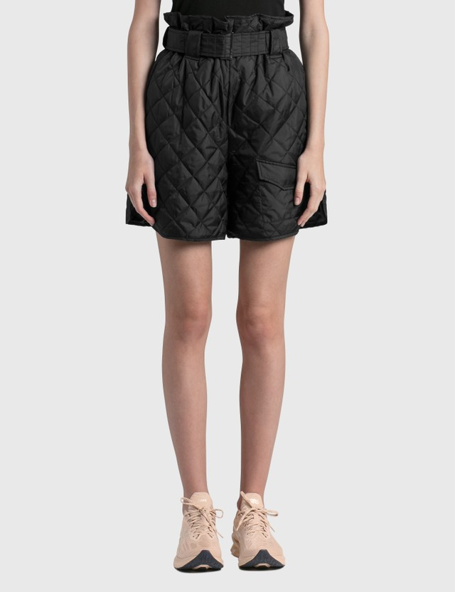 Ganni Recycled Ripstop Quilt Shorts