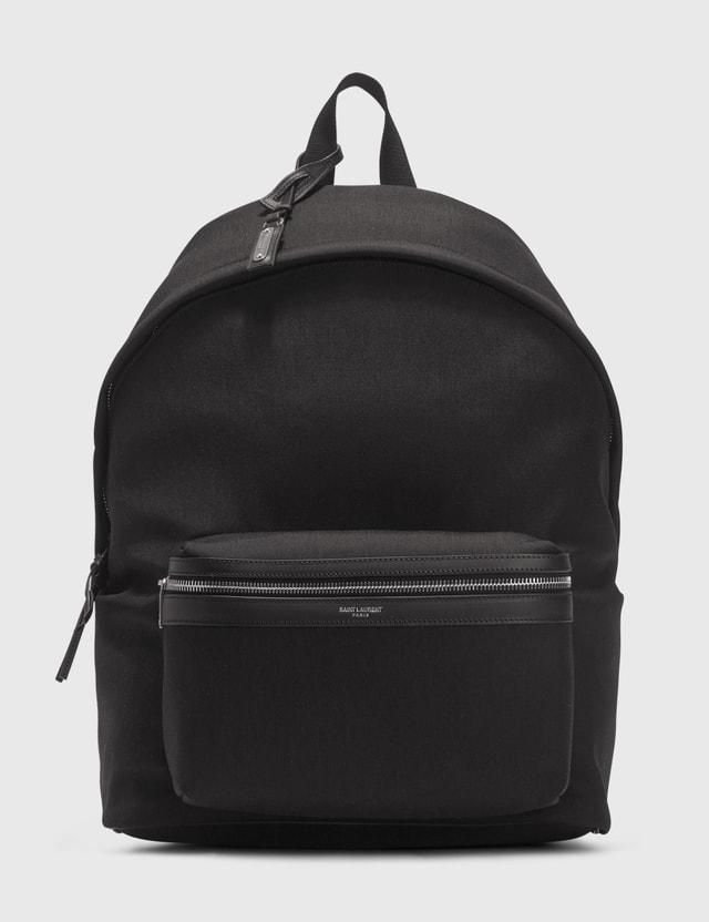 Saint Laurent City Backpack Nero/nero/nero/nero Men
