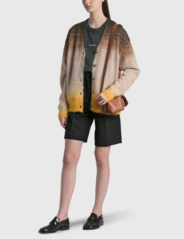 Acne Studios Kanra Brushed Gradient Stripe Cardigan Brown/multi Women