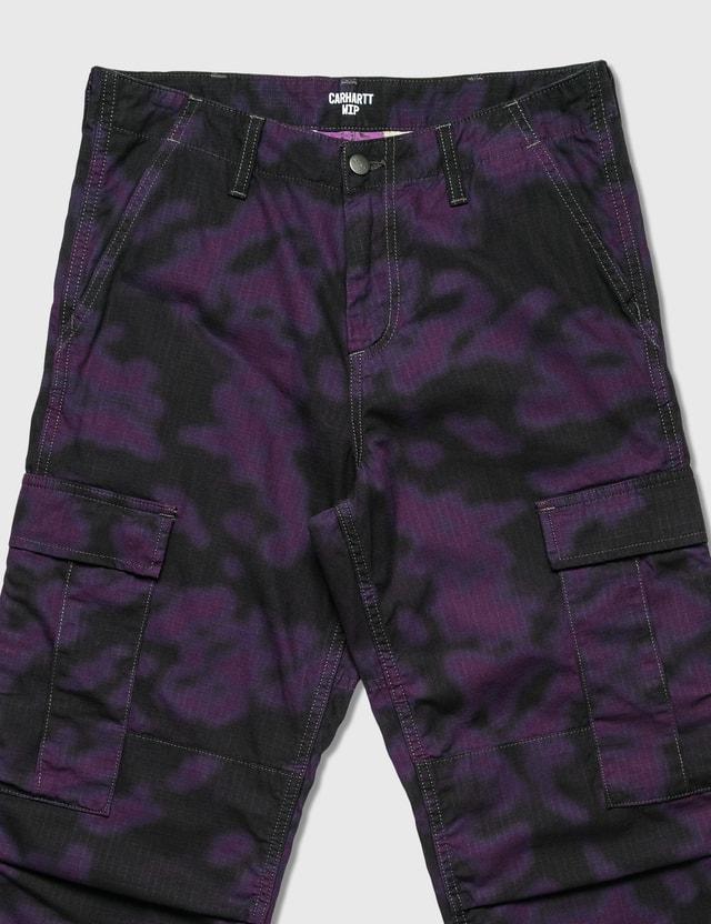 Carhartt Work In Progress Regular Cargo Pants Camo Blur, Purple Men