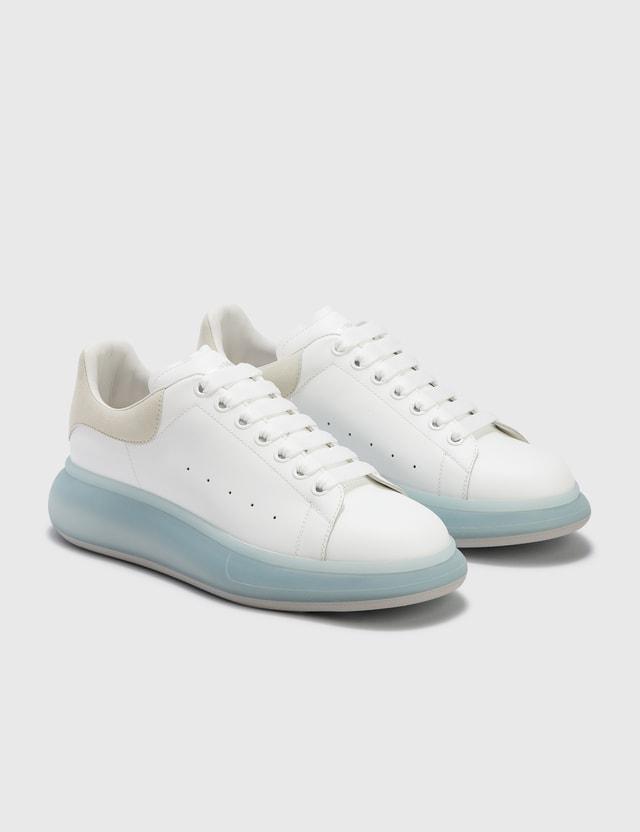Alexander McQueen Oversized Sneaker Whi/frosty Blue/grey Men