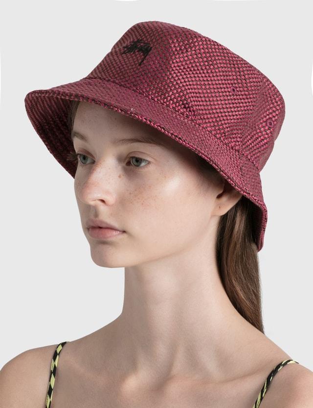 Stussy Jute Weave Bucket Hat Redd Women