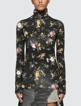 R13 Floral Turtleneck Top
