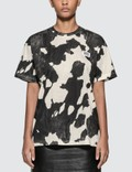 Burberry Logo Detail Cow Print Cotton Oversized T-shirt Picutre