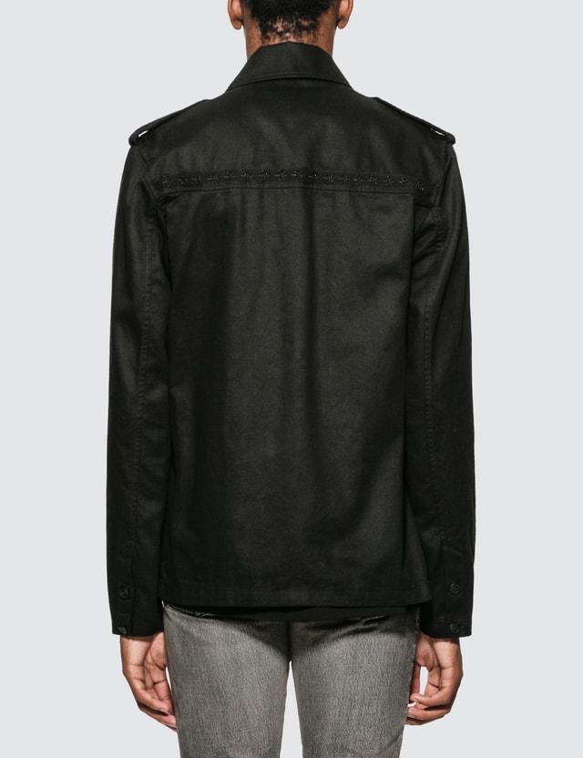 Saint Laurent 밀리터리 재킷 Black Men