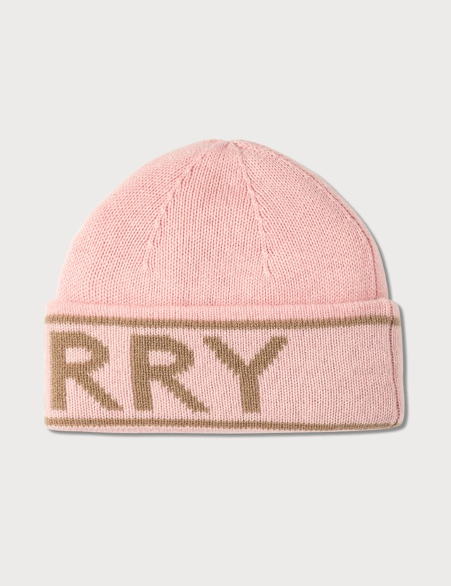 Burberry Logo Intarsia Cashmere Beanie Candy Pink Women