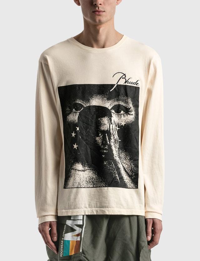 Rhude Beauty Long Sleeve T-shirt White Men