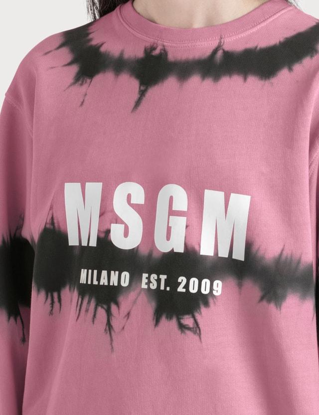 MSGM Tie Dye Logo Sweatshirt