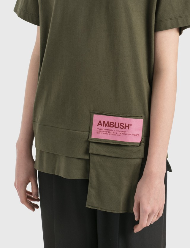 Ambush New Waist Pocket T-Shirt D.green Women