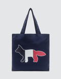 Maison Kitsune Tricolor Fox Tote Bag Picture