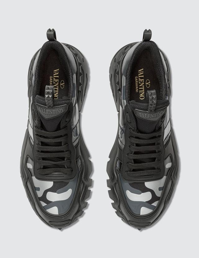 Valentino Valentino Garavani Camouflage Rockrunner Plus Sneaker Nero-silver/nero/nero/dark Grey-nero/ner Men