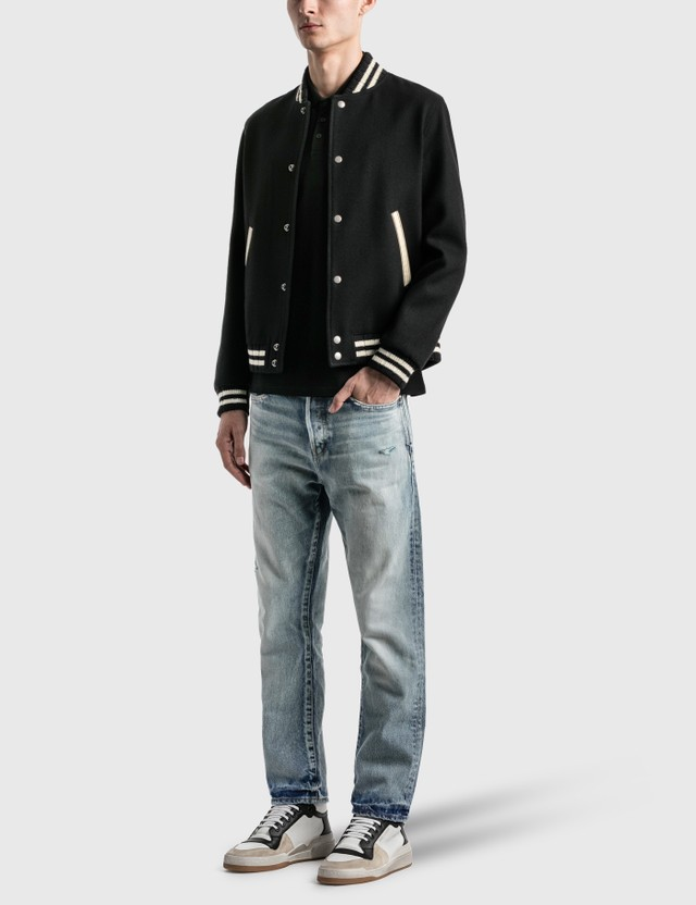 Saint Laurent Teddy Jacket In Wool Noir Men