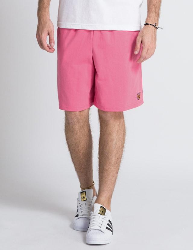 9b930a438f84 Odd Future - Pink OF Donut Shorts