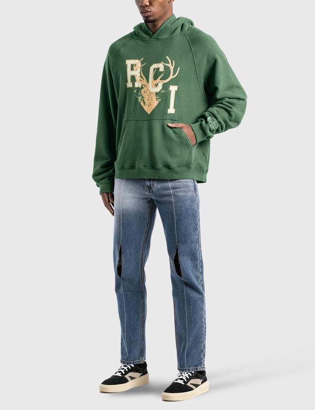 Reese Cooper Rci 디어 로고 후드 스웨트셔츠 Green Men
