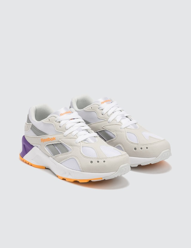 Reebok Aztrek Sneaker 90s-wht/true Grey/solar Gold/team Purple Women