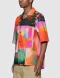 Acne Studios Abstract Botanical Print Shirt Pink/orange Men