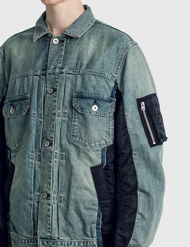Sacai Denim MA-1 Jacket L/blue Men