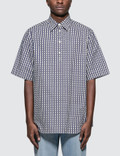 Valentino Oversized Optical Polo Collar Cotton Shirt Picture