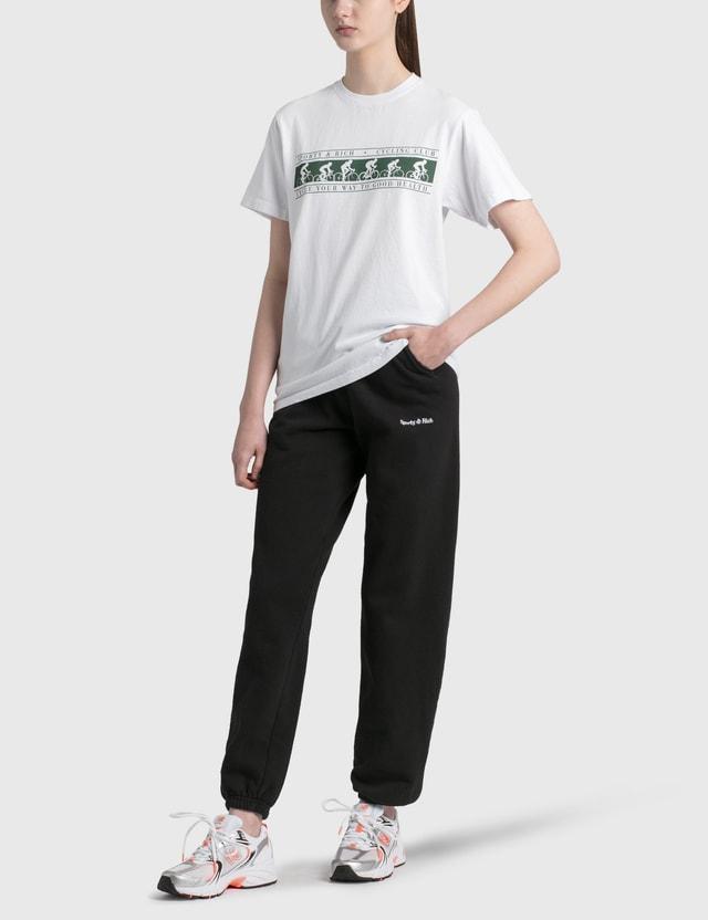 Sporty & Rich Classic Logo Sweatpants Black/white Women