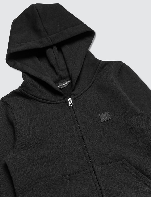 Acne Studios Mini Ferris Zip Face Full Zip Hoodie Black Kids