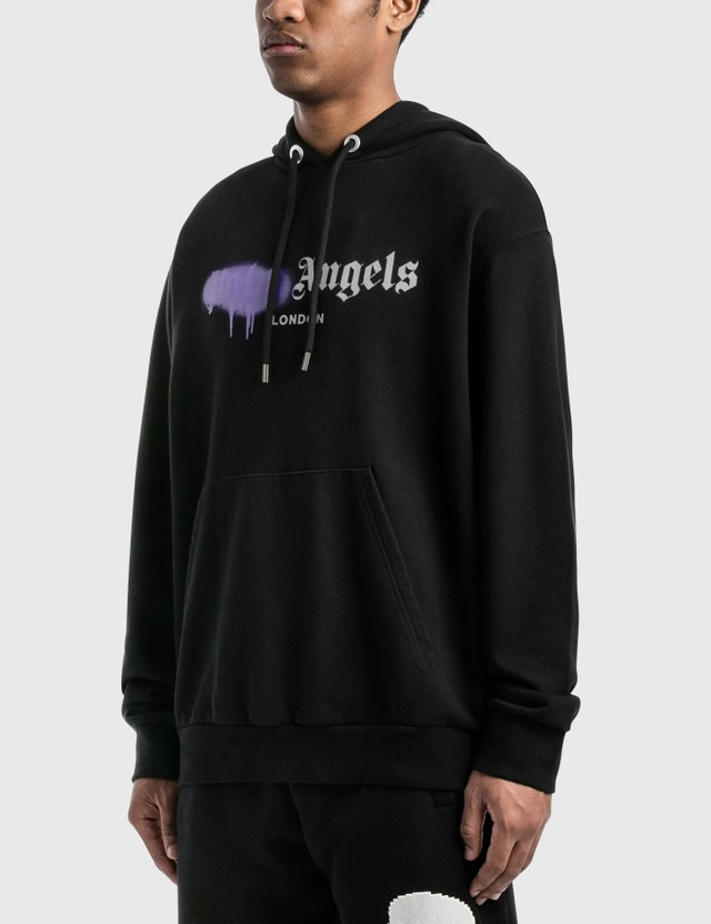 Palm Angels London Sprayed Logo Hoodie
