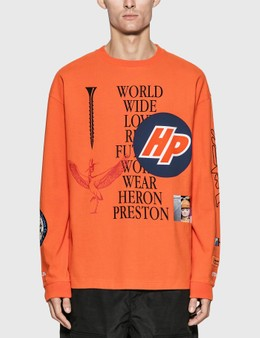 Heron Preston Reg Collage Long Sleeve T-Shirt