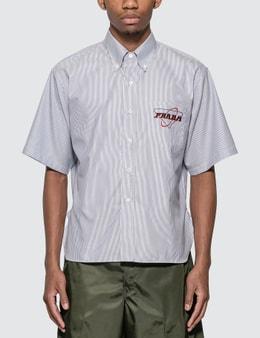 Prada Stretch Poplin Short Sleeve Shirt