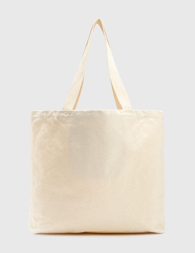 Stussy City Seal Canvas Tote Bag Beige Women