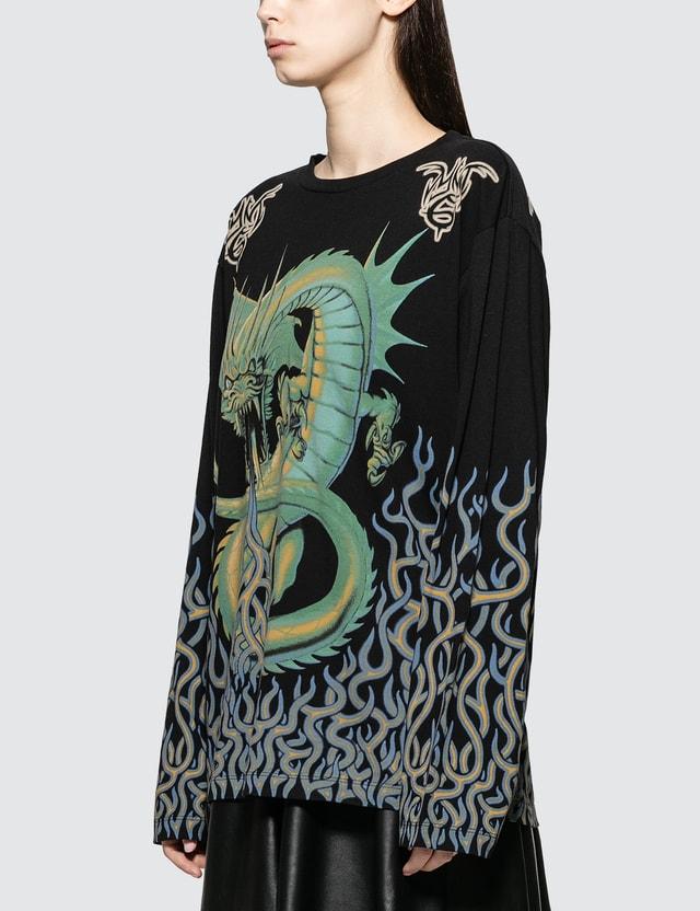 MM6 Maison Margiela Printed Oversized Long Sleeve T-Shirt