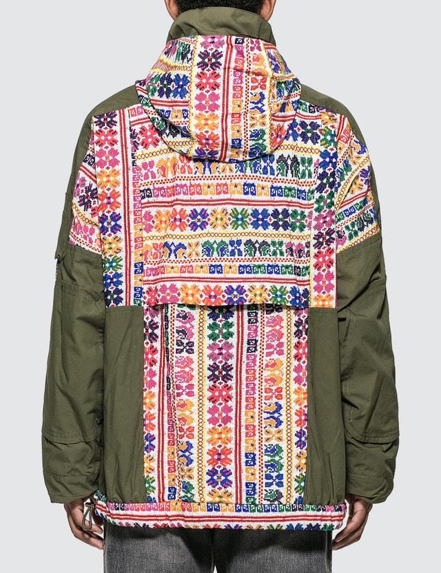 Sacai Floral Stripe Jacquard Blouson Jacket