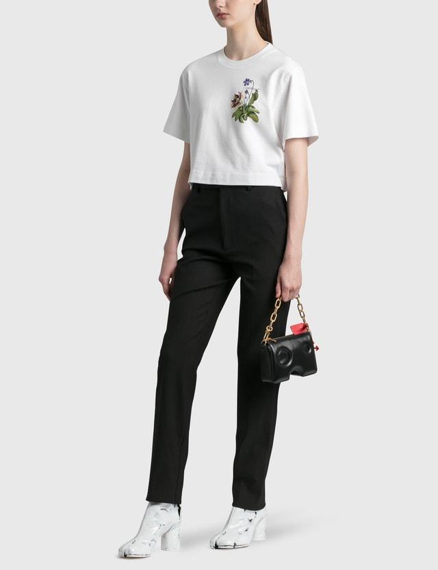 Off-White Botanical Arrows Crop T-Shirt White Green Women