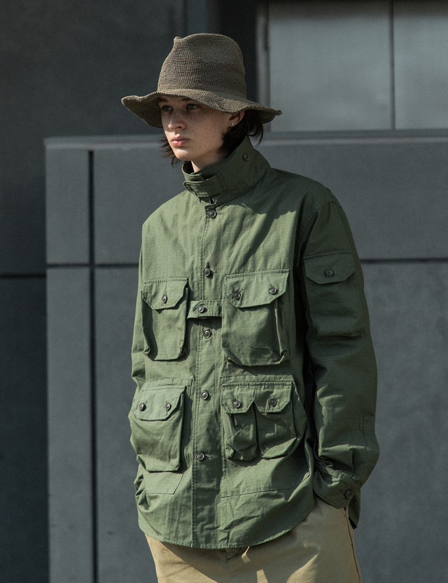 Engineered Garments Explorer Shirt Jacket Olive Men