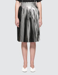 MM6 Maison Margiela Silver Laminated Skirt Picutre