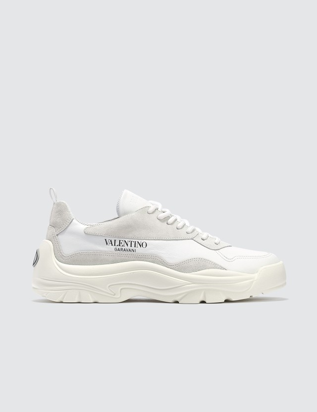 Valentino Valentino Garavani Calfskin and Suede Leather Sneaker