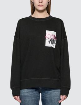 Alexander McQueen Rose Print Sweatshirt