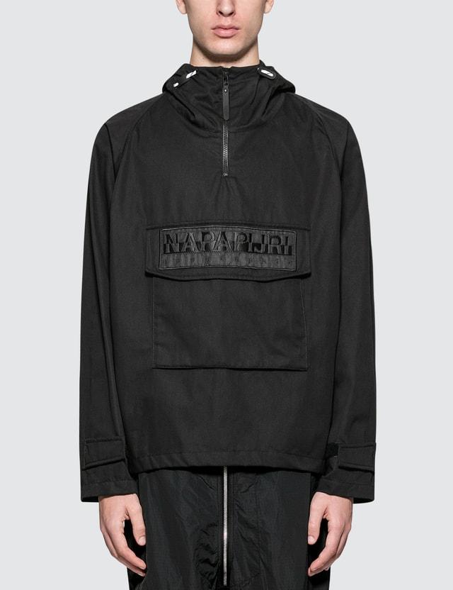 Napapijri Silver Half Zip Pullover Jacket Black Men