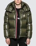 Moncler Nylon Down Jacket with Stripe Zip Detail Picture
