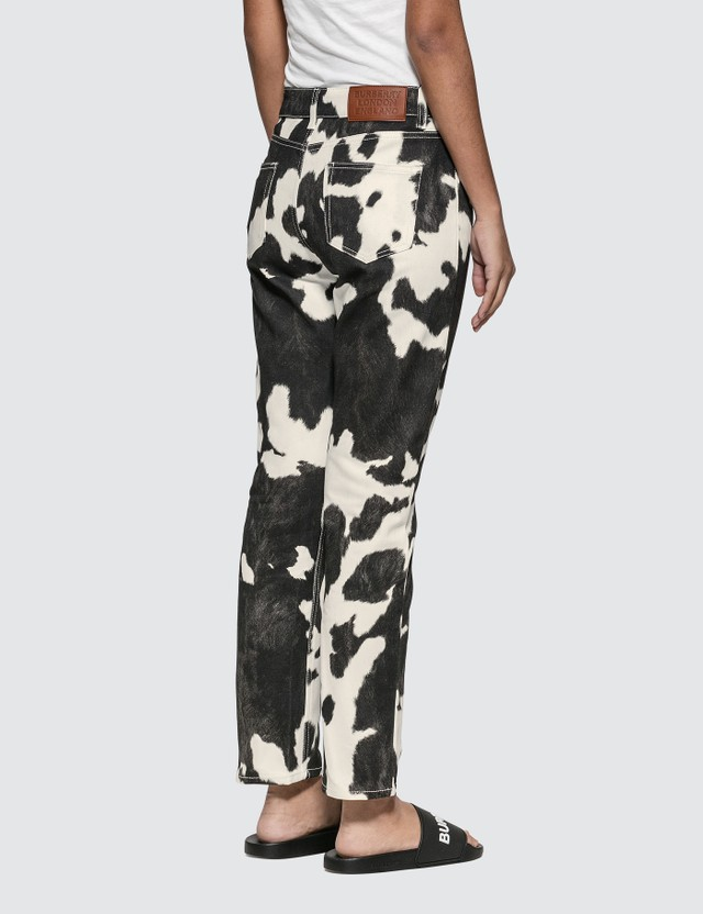 Burberry Straight Fit Cow Print Jeans