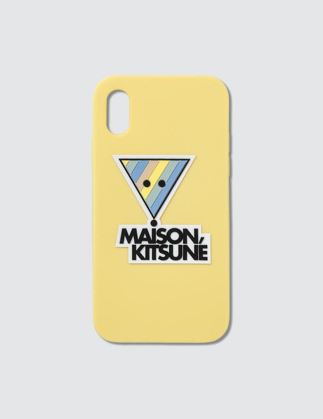 Maison Kitsune 3D Rainbow Triangle Fox iPhone X Case