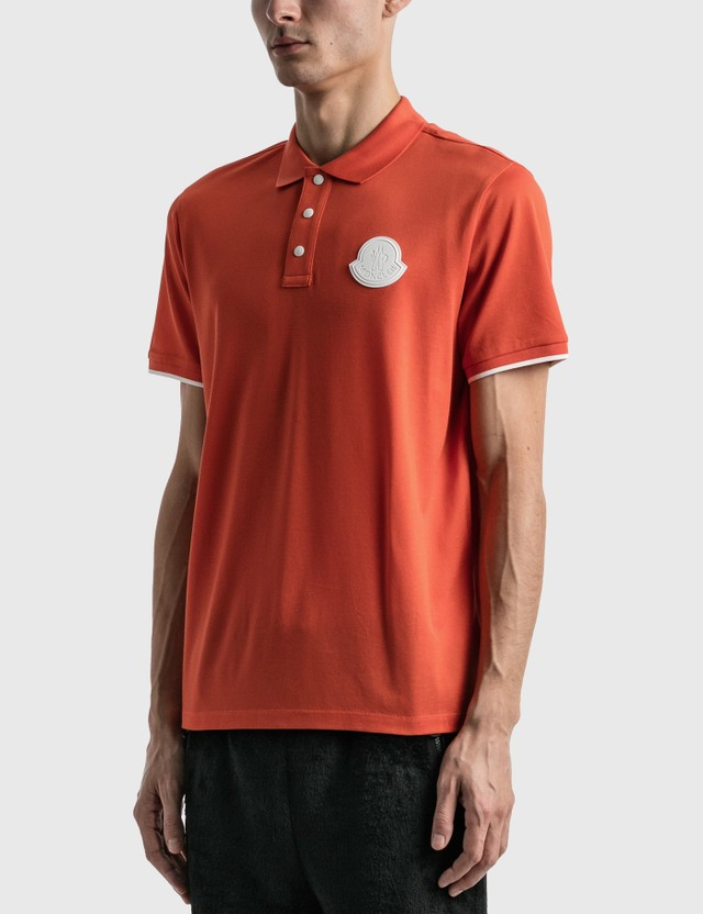 Moncler Maglia Polo Orange Men
