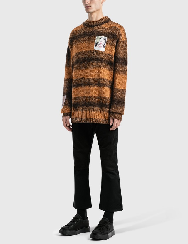 Raf Simons Polaroids Striped Sweater