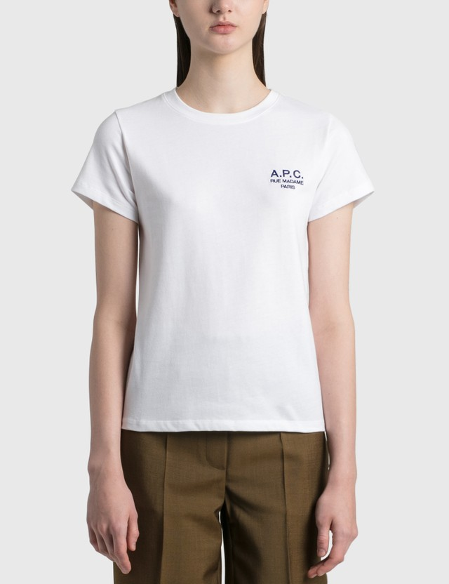 A.P.C. Denise Logo T-shirt Aab White Women