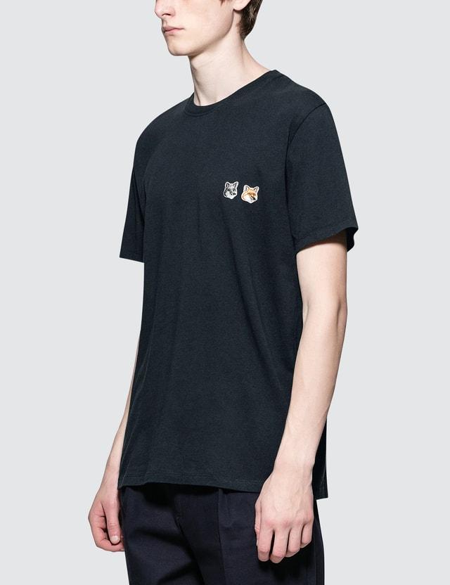 Maison Kitsune Double Fox Head Patch S/S T-Shirt
