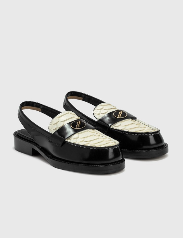 We11done Loafer Slingback Black/white Women