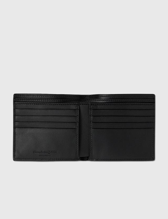 Alexander McQueen Rib Cage Billfold Wallet Black Men